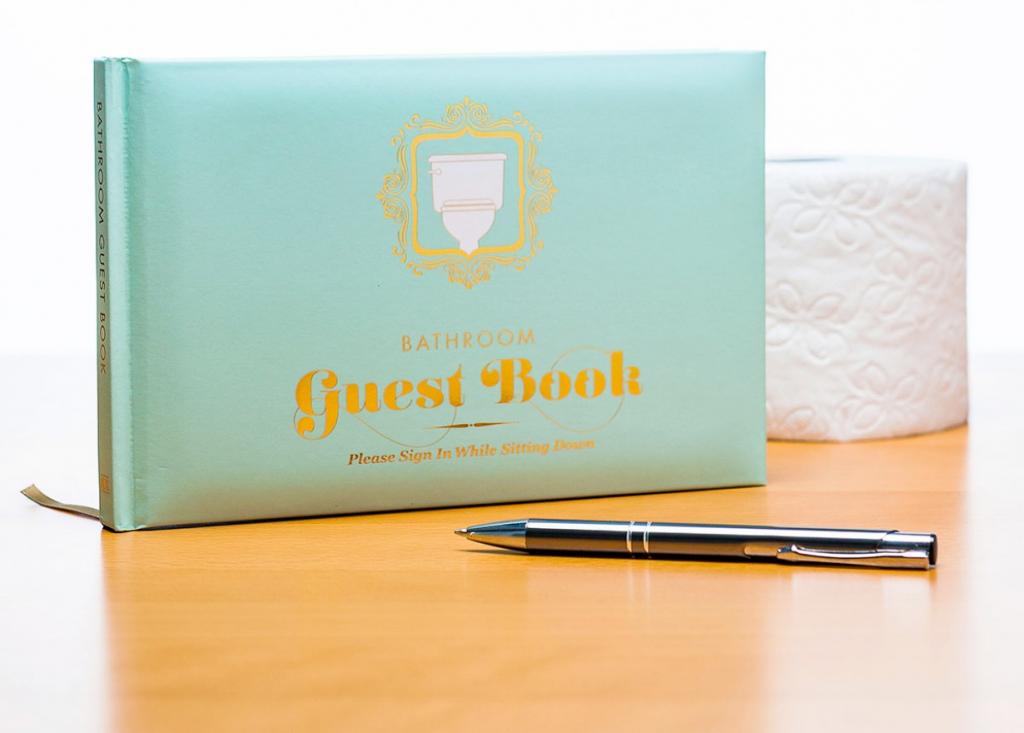 gastenboek voor het toilet huwelijkscadeau