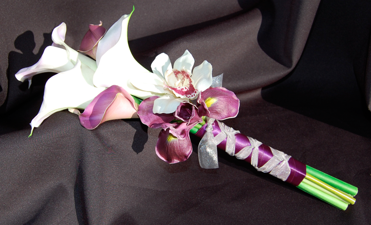 Lang en smal bloemstuk, gemakkelijk en elegant