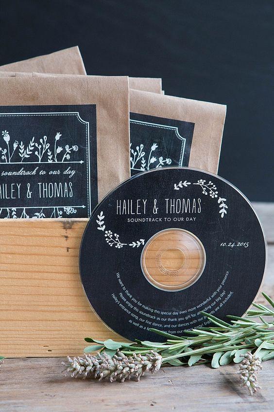 Originele trouwbedankjes: een cd vol herinneringen
