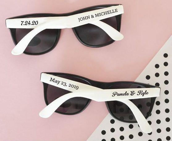 Bedrukte zonnebrillen zijn origineel