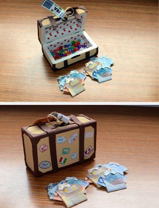 Geld in de reiskoffer