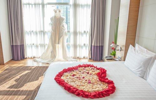 Bruidssuite in luxe hotel