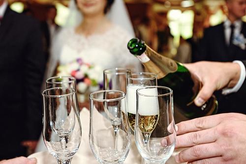 Wijn op de bruiloft