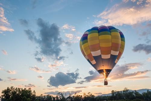 Ballonvaart als cadeau voor 25 jarige bruiloft