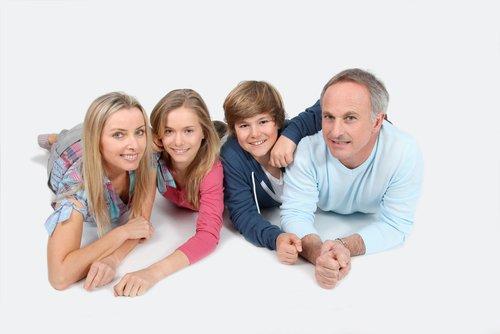 Familiefoto op canvas cadeau bij 25 jarig jubileum