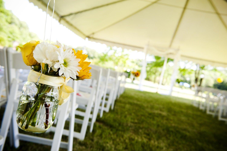 Partytent bruiloft