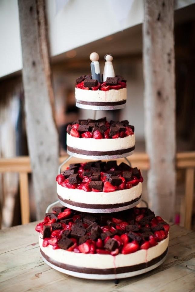 Cheesecake als bruidstaart