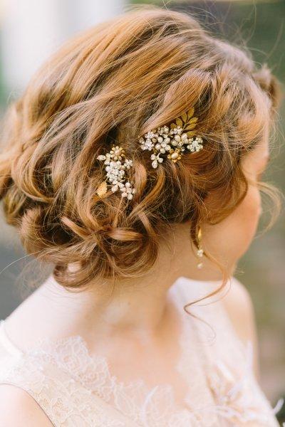 Kort bruidskapsel