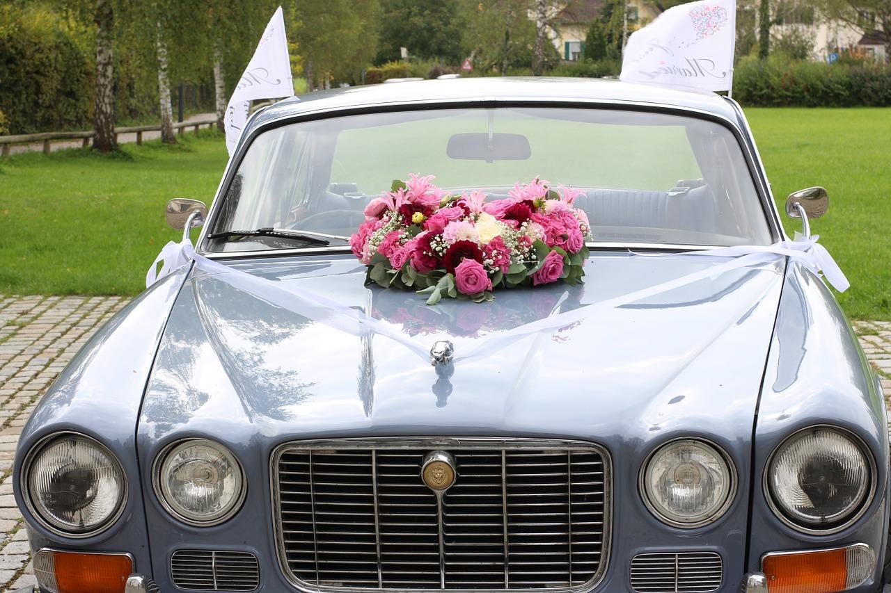 oldtimer bruiloft