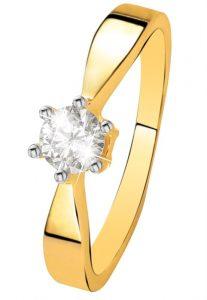 Geelgouden ring met grote solitair